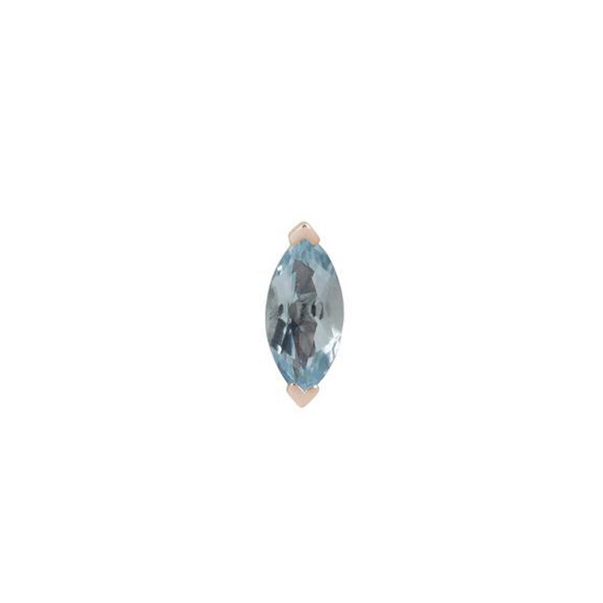 Sky Blue Topaz Zuri Gold Threadless End