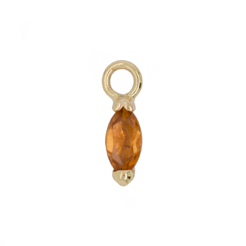 Marquise Gold Charm