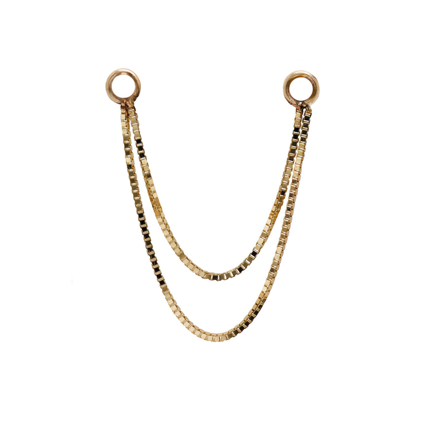 Double Gold Box Chain