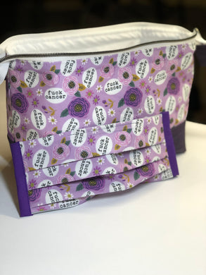 Toiletry/Project Bag -F*** Cancer