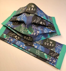 I'M HARD OF HEARING/DEAF Collection Reusable Face Mask - Adult Size