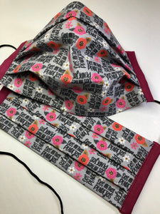 More Pretty Sweary Reusable Face Mask - Adult Size