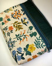Load image into Gallery viewer, Floral Canvas & Green Cork Large Tablet Case