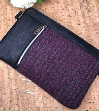 Load image into Gallery viewer, Tweed and Cork Cross Body/Wristlet
