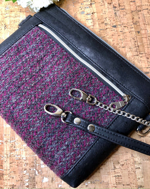 Tweed and Cork Cross Body