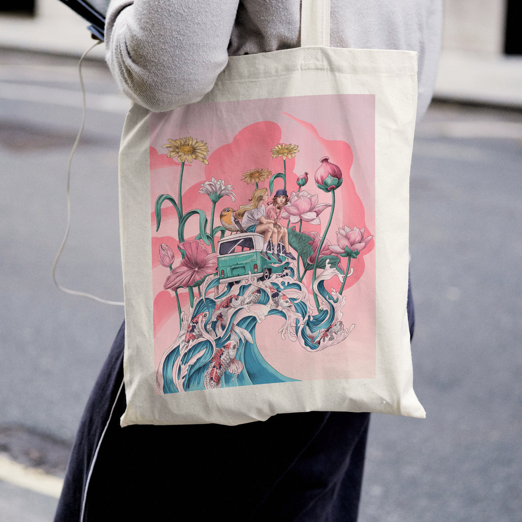 Wild and free, shopping bag