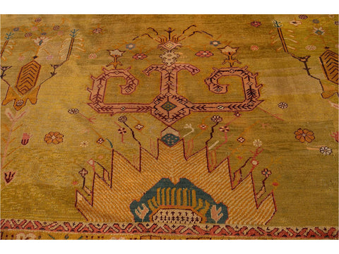 Late-19th Century Vintage Oushak Wool Rug 15' X 16'