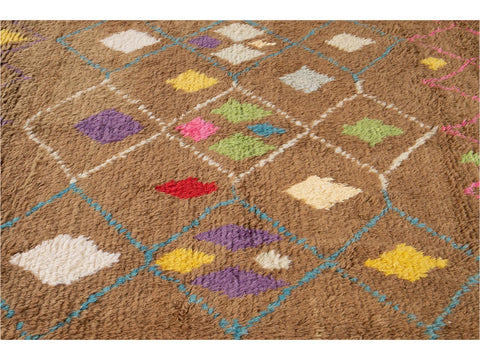 21st Century Modern Moroccan-Style Wool Rug 10 X 14
