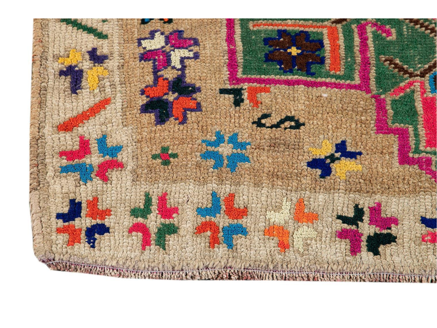 Mid-20th Century Vintage Turkish Wool Runner Rug 3 X 10