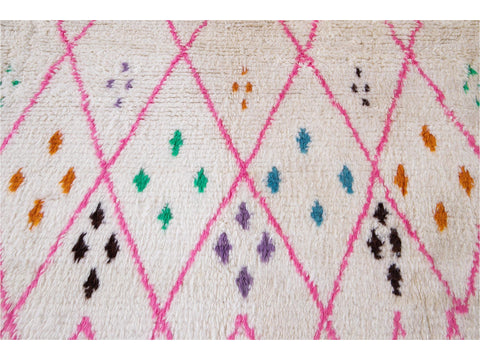 21st Century Modern Moroccan Style Wool Rug 10 X 13