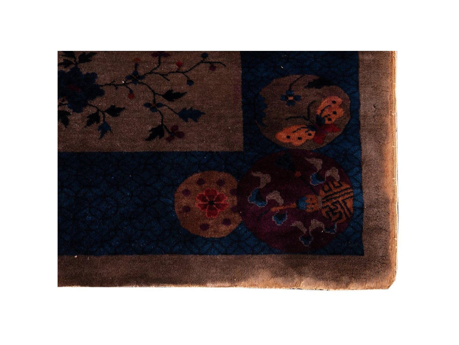 Antique Chinese Art Deco Wool Rug 8 X 10