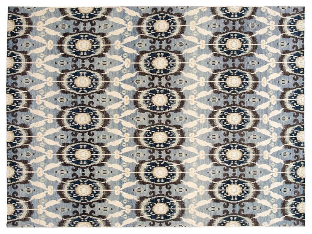 New Modern Transitional Wool Afghan Rug 11 X 13
