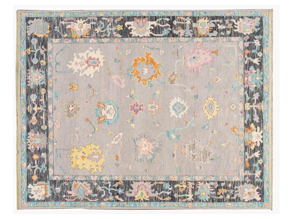 21st Century Contemporary Oushak Style Wool Rug 8 X 10