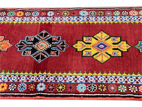 Beautiful Turkish Runner Rug, 3' x 13'