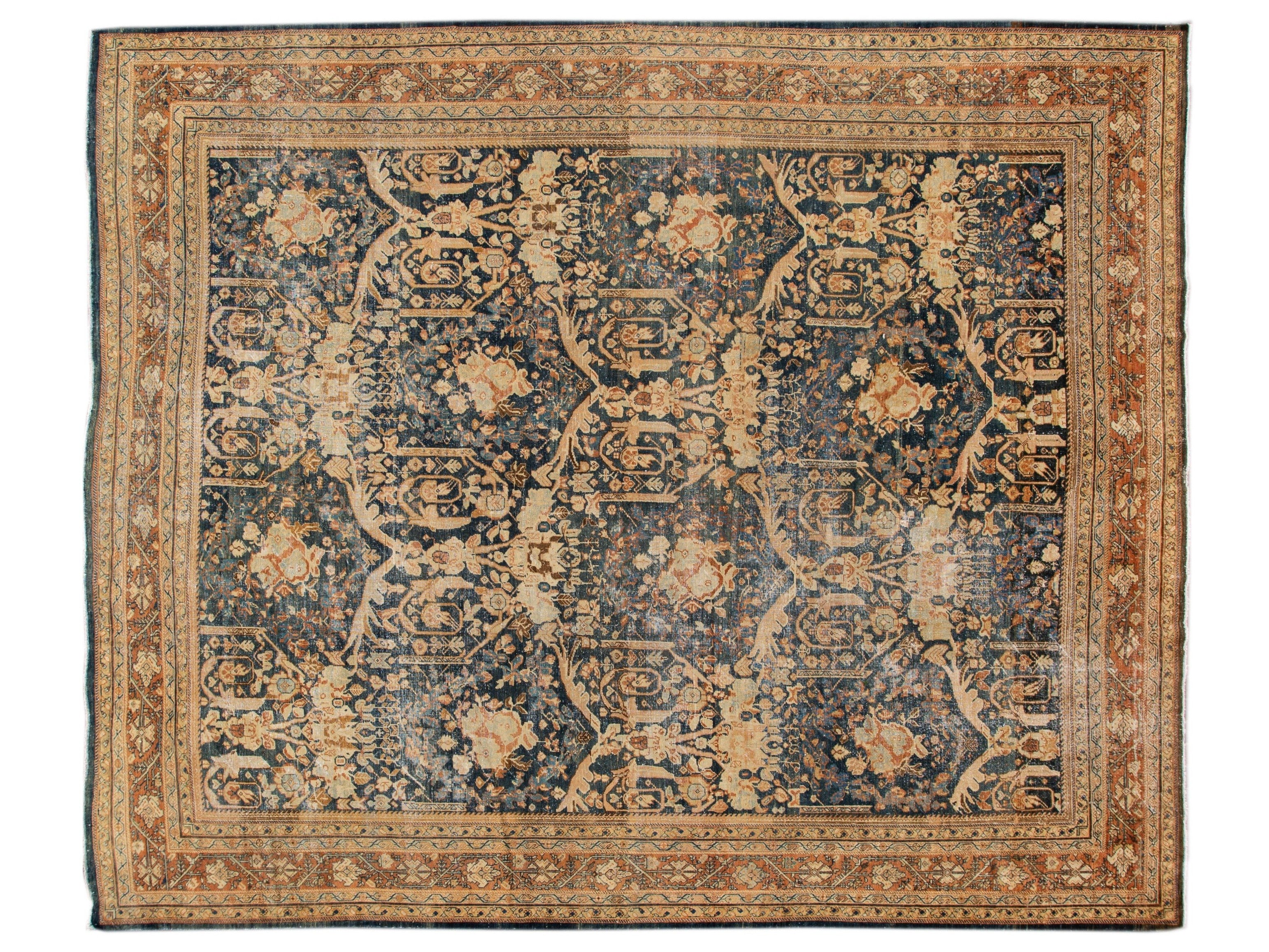 Antique Mahal Wool Rug 11 X 13