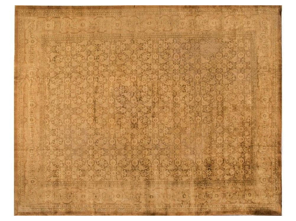 Antique Agra Wool Rug, 13' X 17'