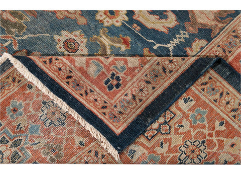 Early-20th Century Antique Sultanabad Wool Rug 11 X 14