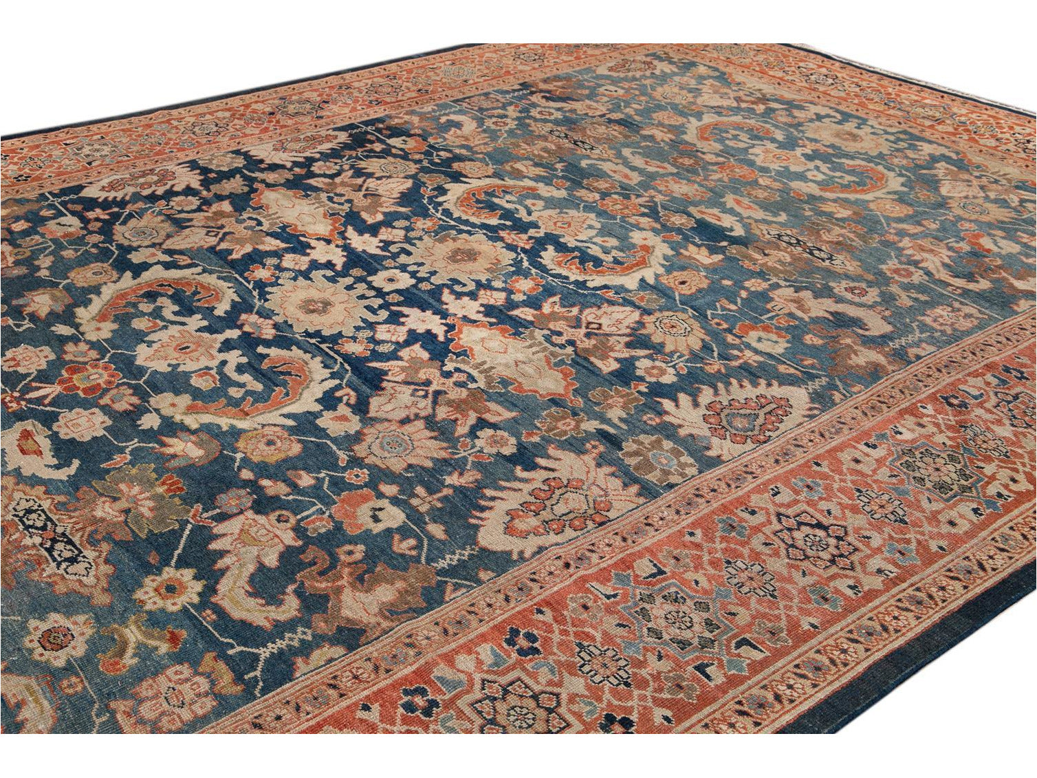 Early 20th Century Antique Sultanabad Wool Rug 11 X 14