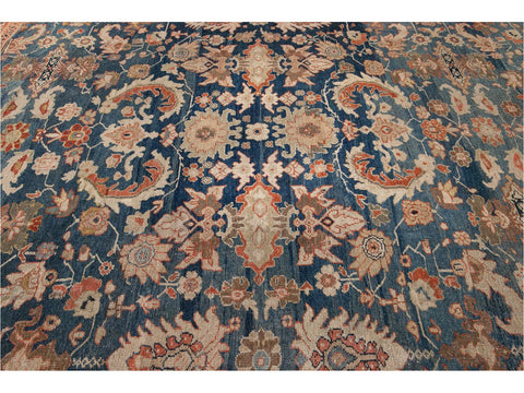 19th Century Antique Sultanabad Wool Rug 11 X 14