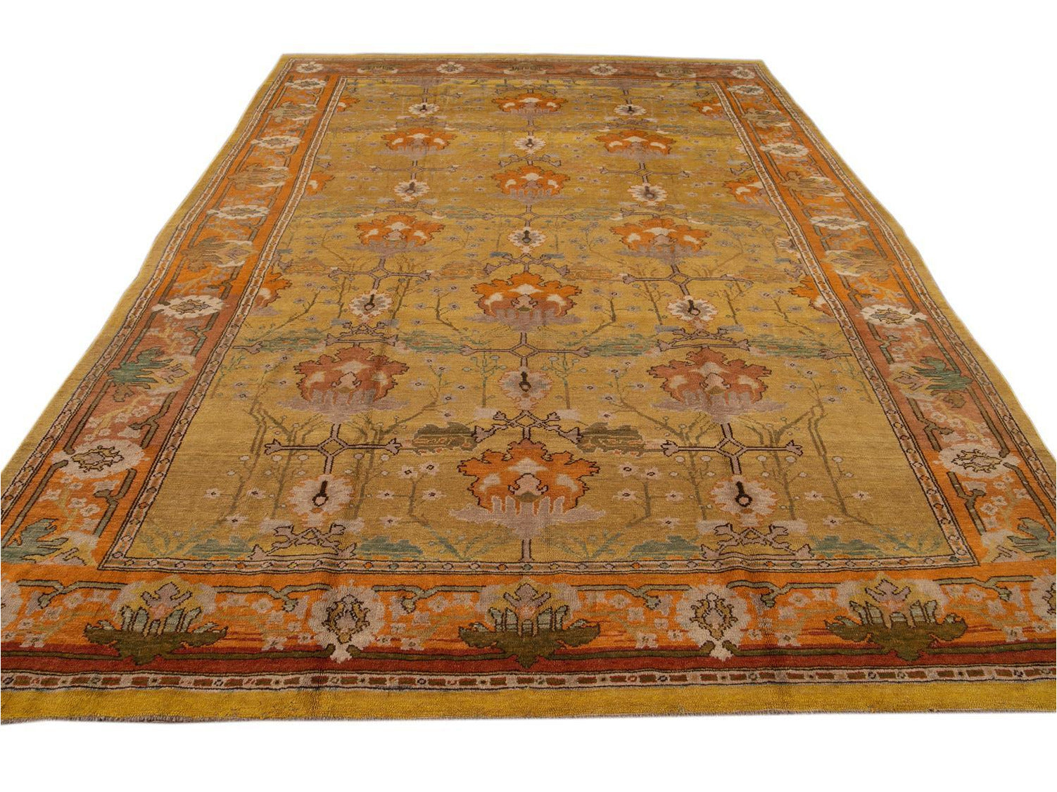 Vintage Donegal Arts & Crafts style Rug 10 X 13