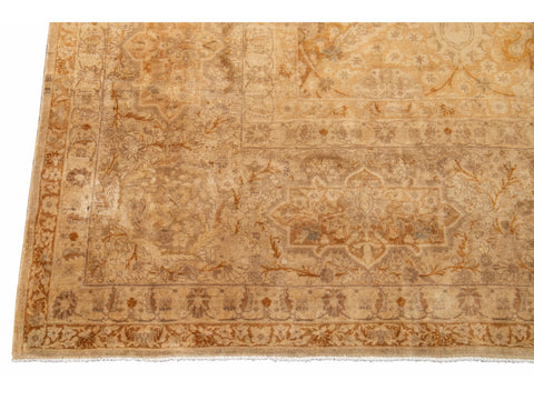 Early 20th Century Antique Tabriz Persian Wool Rug  12 X 19