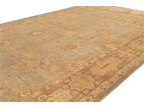 New  Turkish Oushak Long Wool Rug 12 X 21