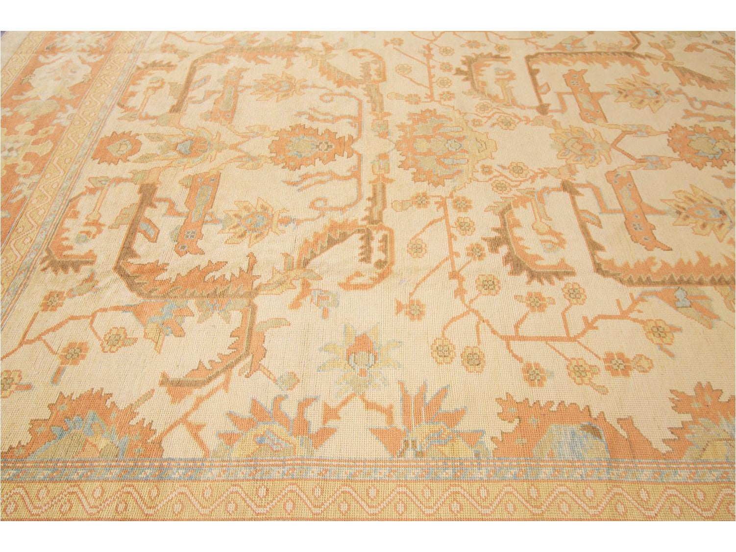21st Century Contemporary Turkish Oushak Rug 12 X 19