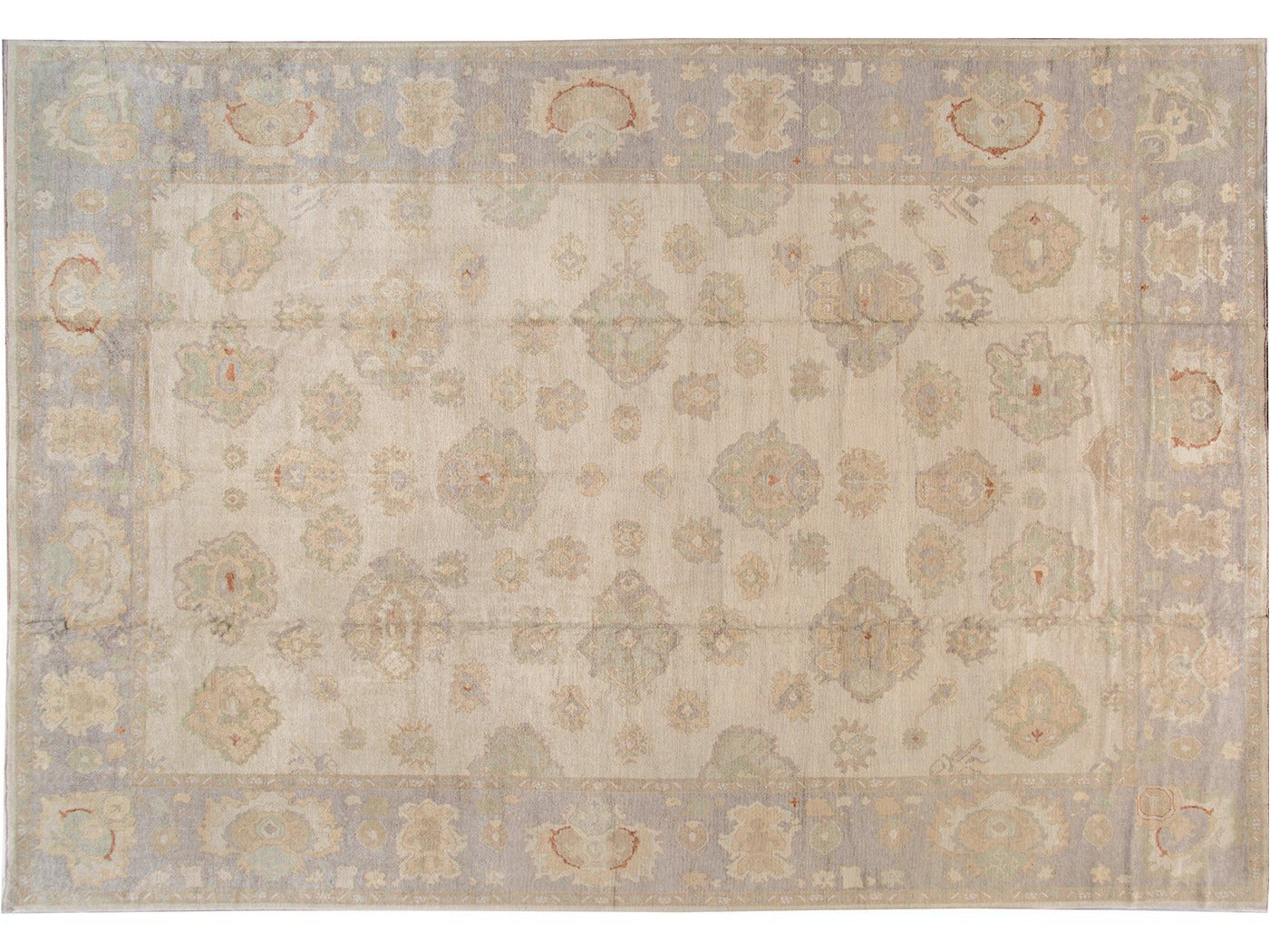 21st Century Contemporary Modern Oushak wool Rug 15 X 21