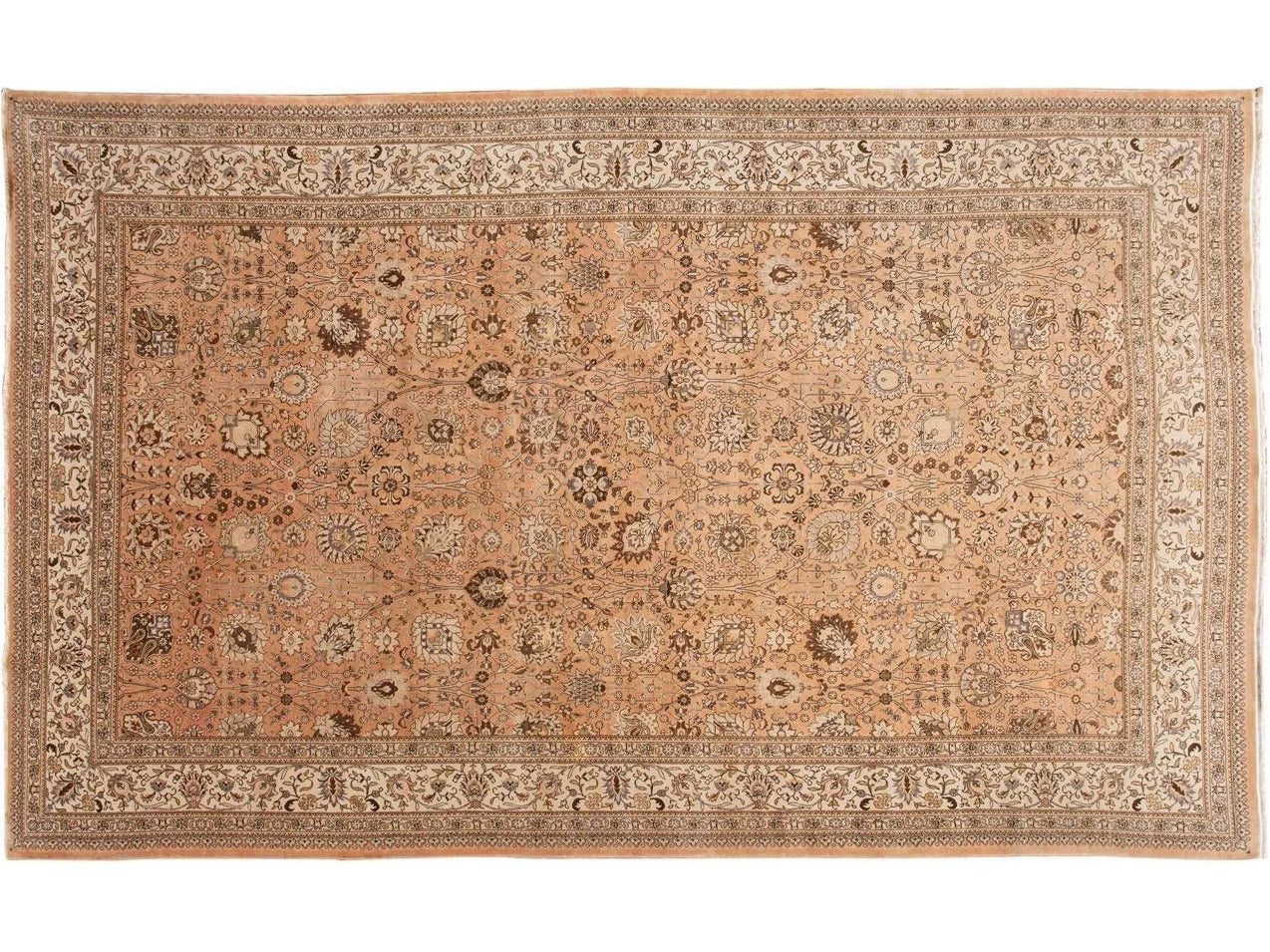 Early 20th Century Antique Tabriz Wool Rug 11 X 18