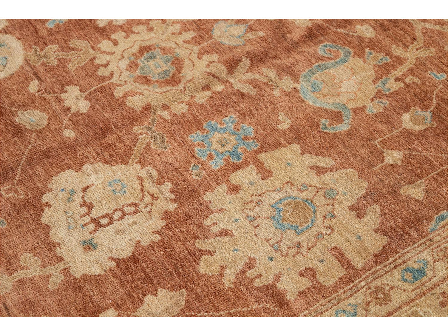 Contemporary Sultanabad Wool Rug 13 X 14