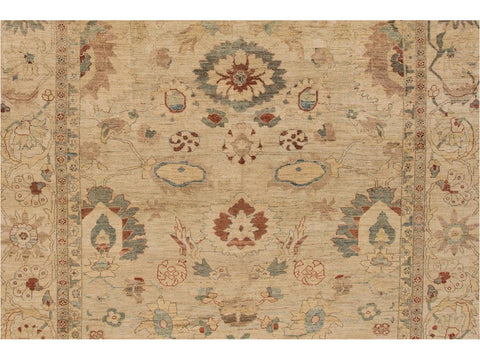 Contemporary Sultanabad Wool Rug 12 X 17