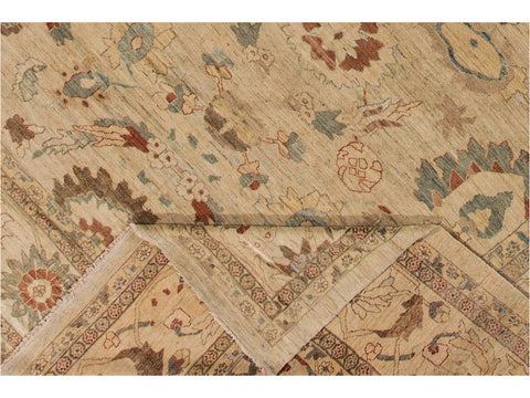 21st Century Contemporary Sultanabad Wool Rug 12 X 17
