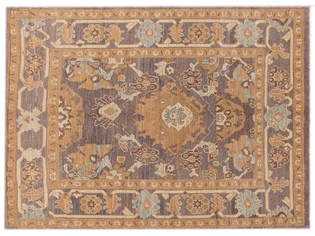 21st Century Modern Persian Sultanabad Rug 5 X 7