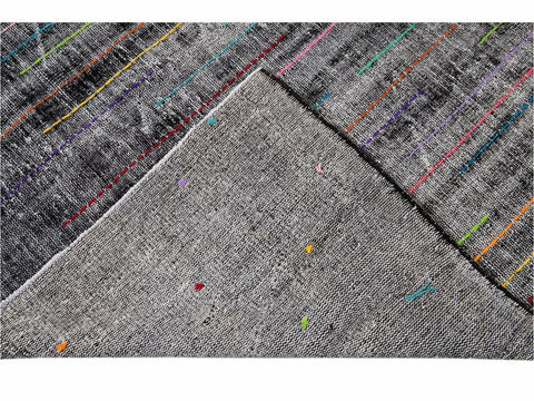 Late 20th Century Vintage Overdyed Wool Rug