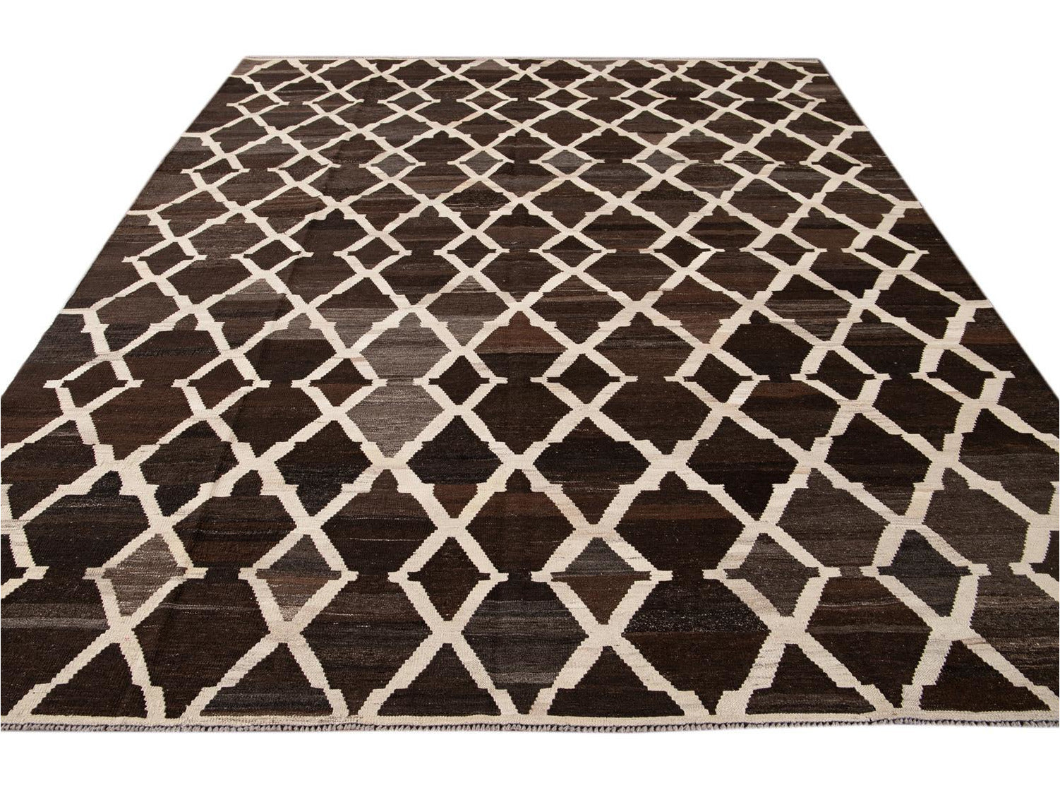 21st Century Contemporary Flatweave Kilim Wool Rug 9 X 10
