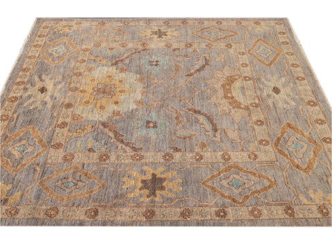 Modern Square Sultanabad Rug 6 X 6