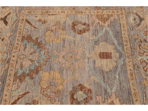 21st Century Modern Square Sultanabad Rug 6 X 6