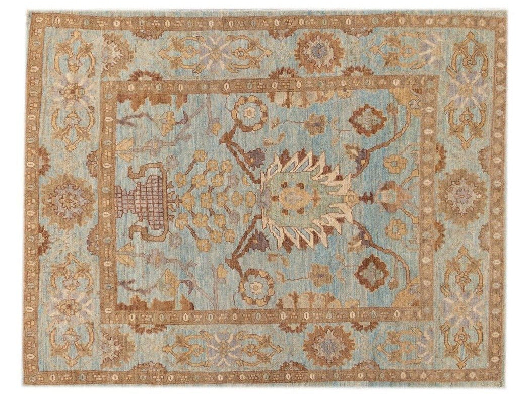 21st Century Modern Square Persian Sultanabad Rug 5 X 7