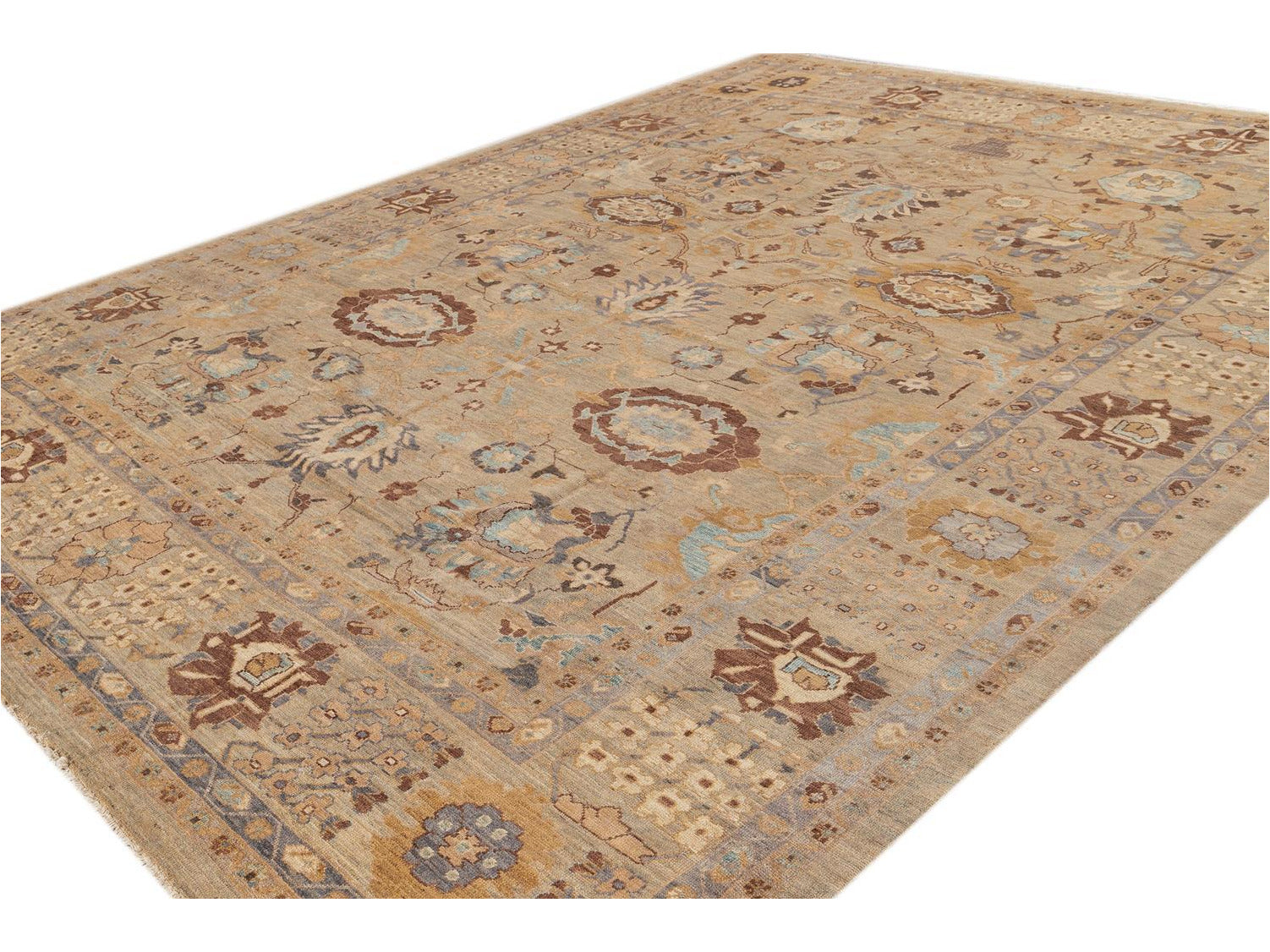 Contemporary Sultanabad Wool Rug 11 X 14