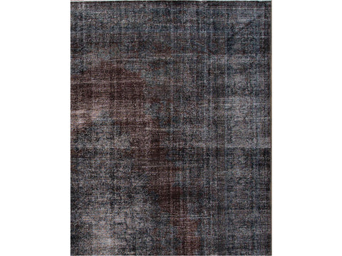 Vintage Overdyed Wool Rug 11 X 17
