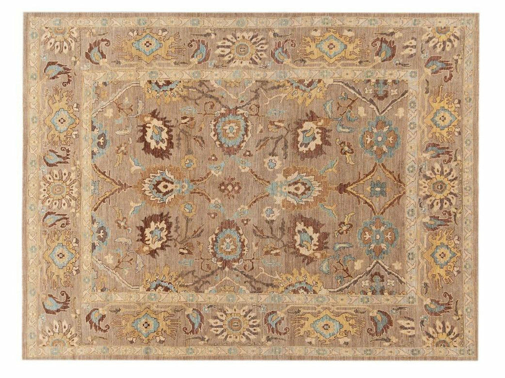 21st Century Modern Persian Sultanabad Rug 10 X 13