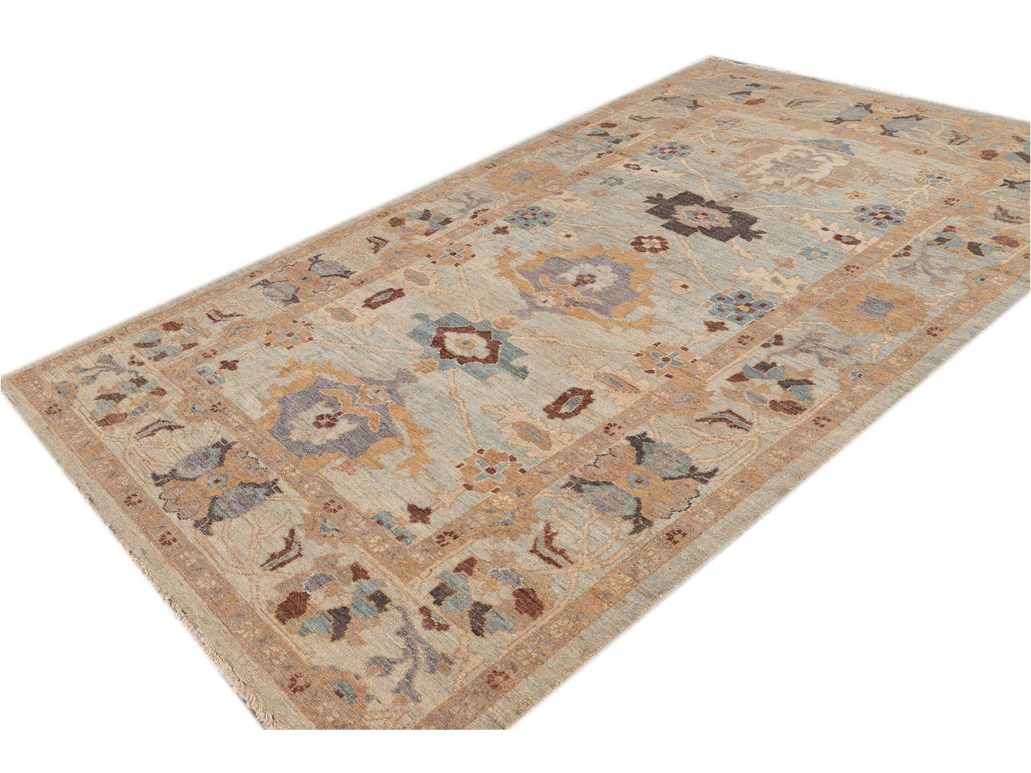 21st Century Modern Sultanabad Square Wool Rug 6 X 10