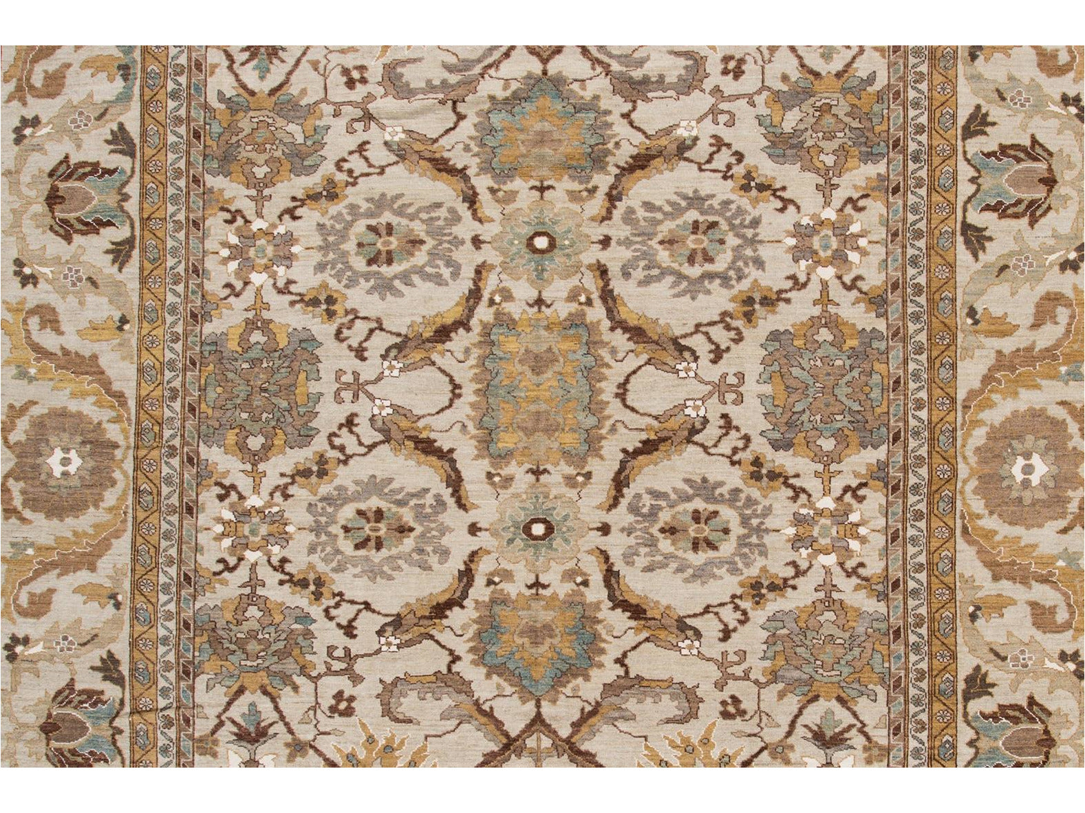 21st Century Contemporary Sultanabad Oversize Wool Rug 13 X 20