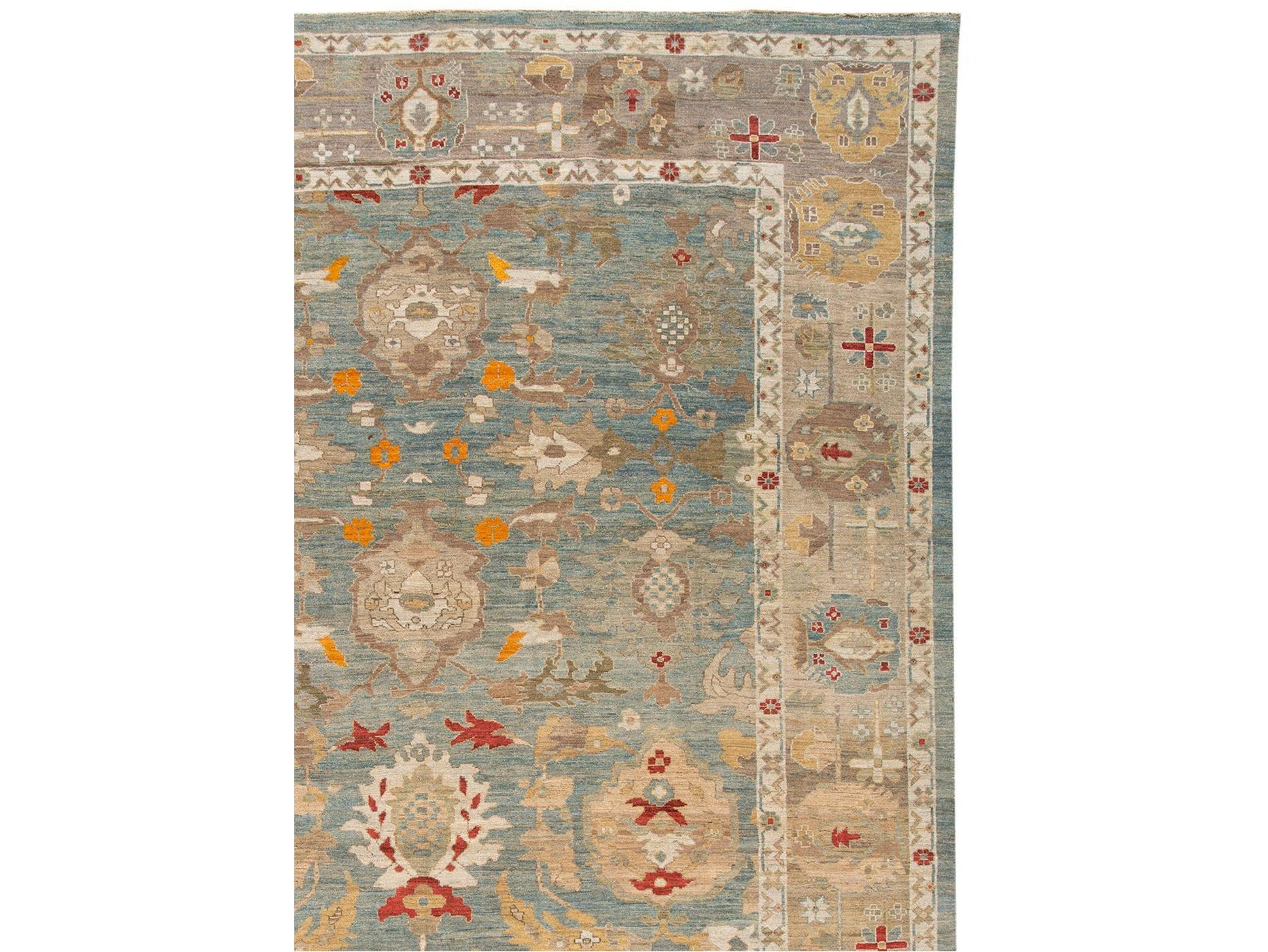 Contemporary Sultanabad Oversize Wool Rug 12 X 18