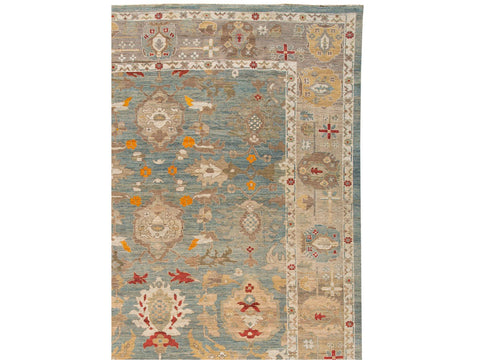 21st Century Contemporary Sultanabad Oversize Wool Rug 12 X 18