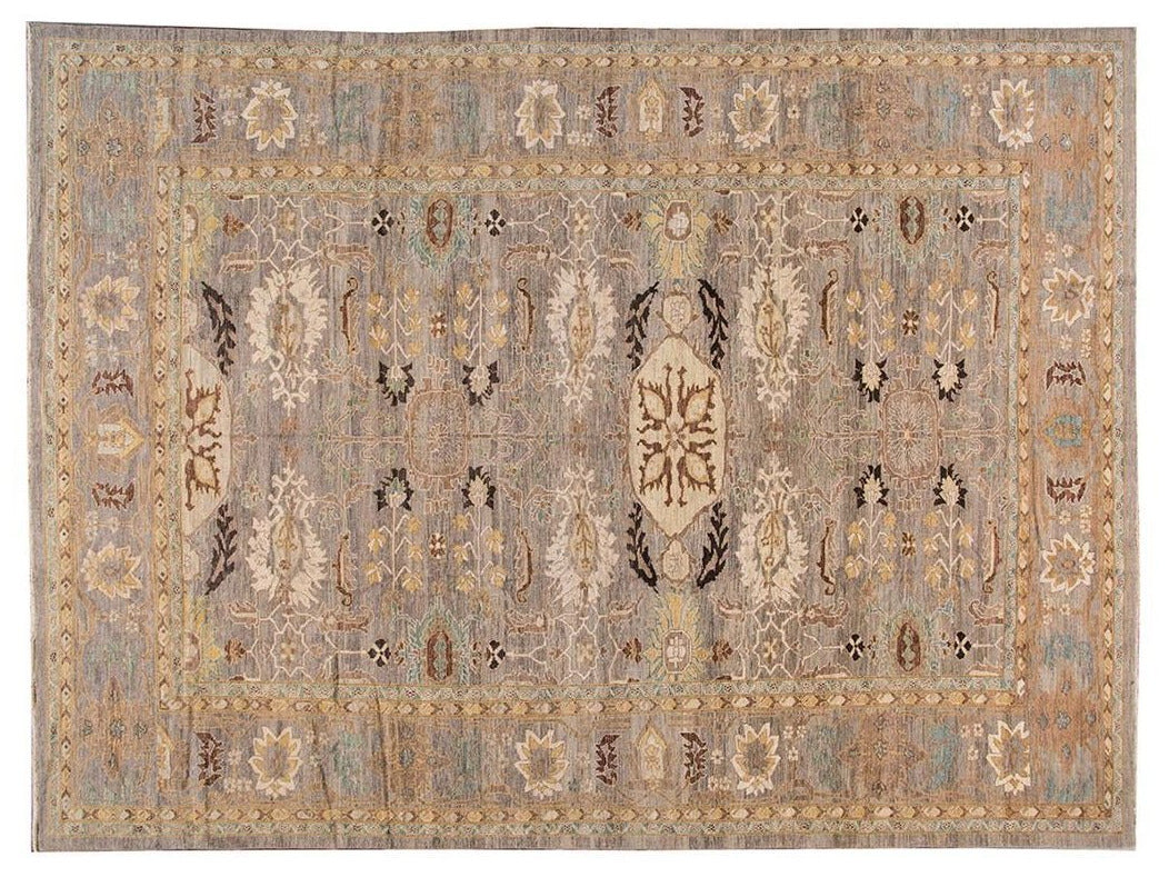 Contemporary Sultanabad Oversize Wool Rug 13 X 18