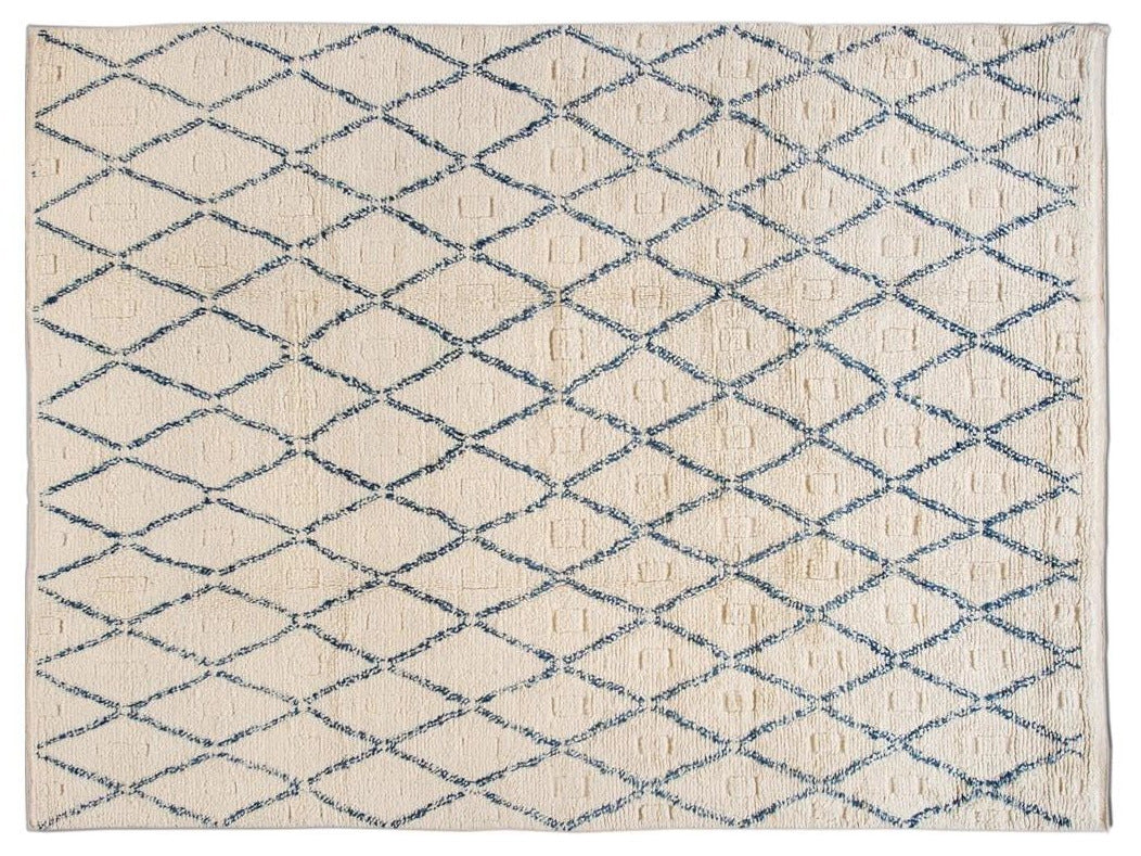 21st Century Modern Moroccan-Style Wool Rug 9' x 12'