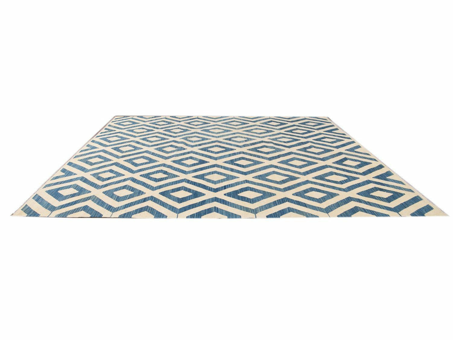 21st Century Contemporary Flatweave Kilim Wool Rug 11 X 12
