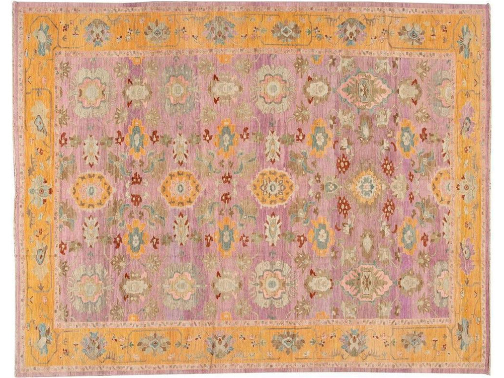Contemporary Sultanabad Persian Wool Rug 12 X 16
