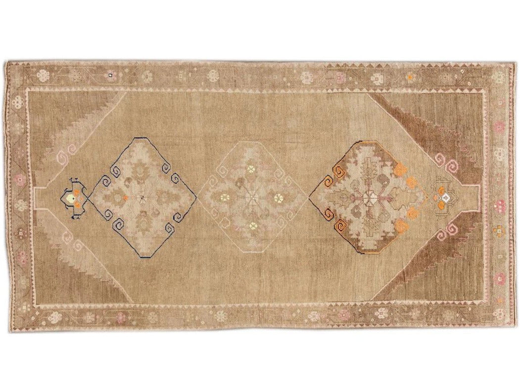 Beautiful Turkish Runner Rug, 5' x 10'
